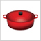 Oval French Oven Red