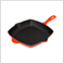 Square Skillet Grill Flame