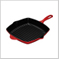 Square Skillet Grill Red