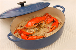 Steamed Crab with Glutinous Rice