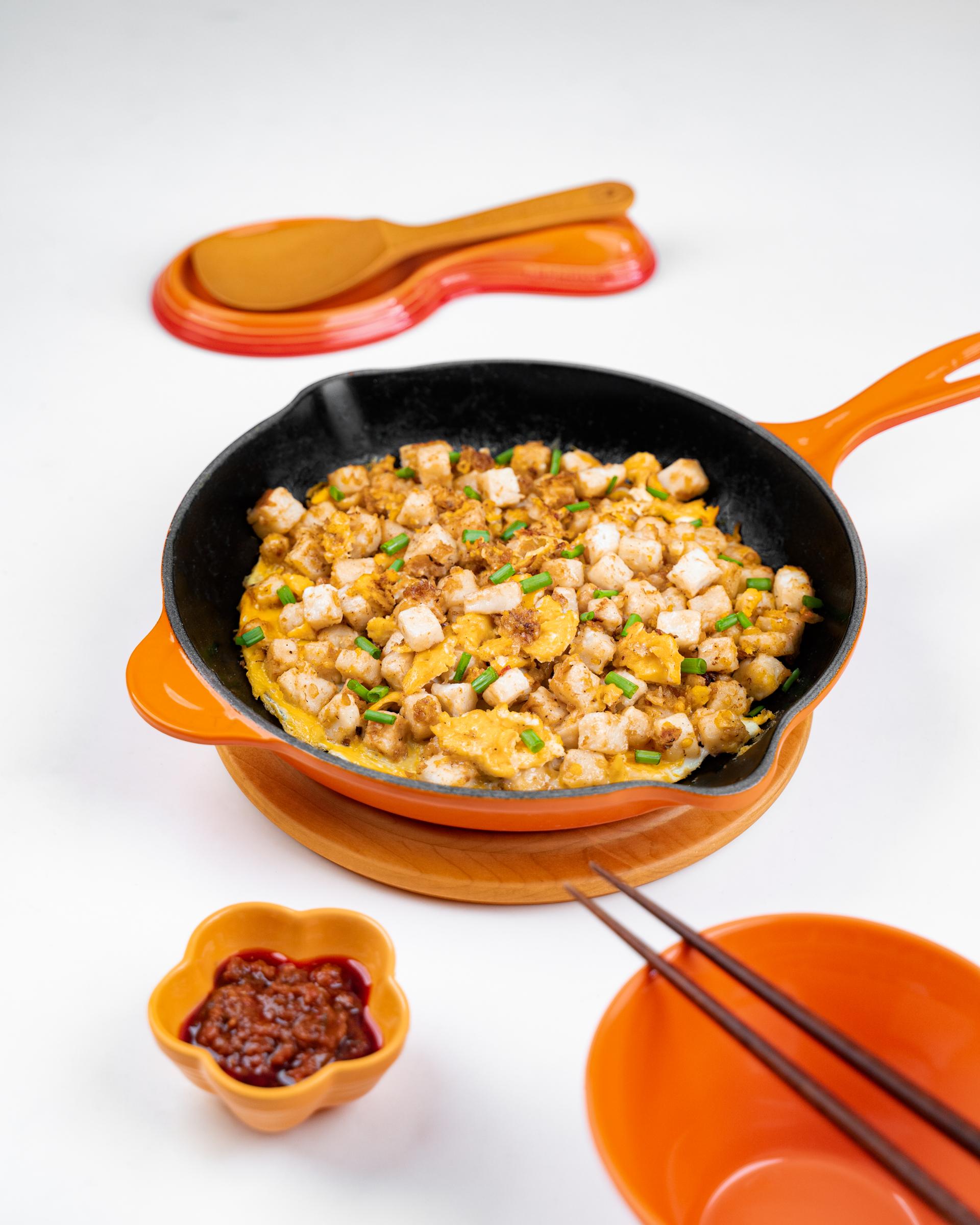 Singaporean Fried Carrot Cake (Serves 3-4)